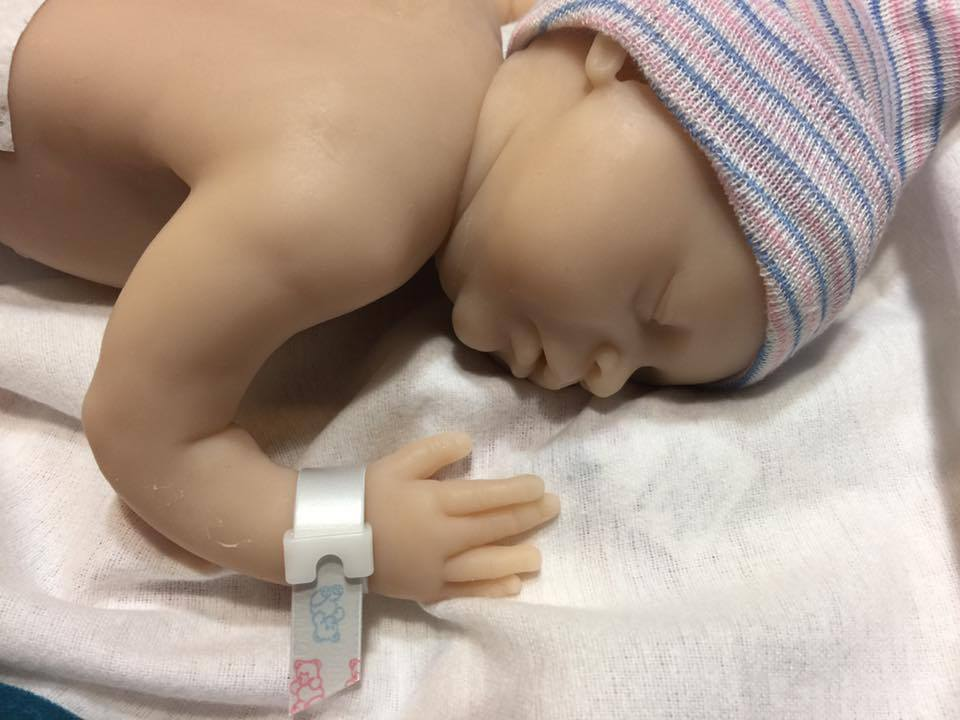 Eva Full Body Micro Preemie sculpted by Eva Brilli